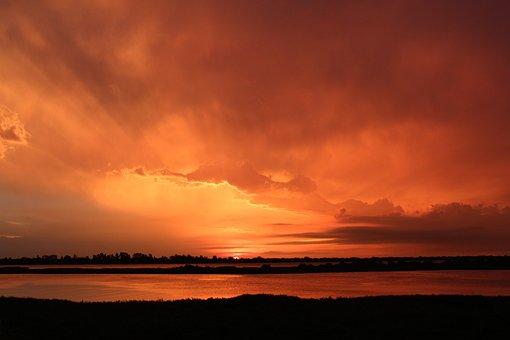 Sunset, Paraguay, Landscape, Sky, Sunrise, Summer