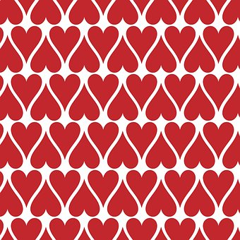 Hearts, Pattern, Seamless, Red, Love, Day, Valentine