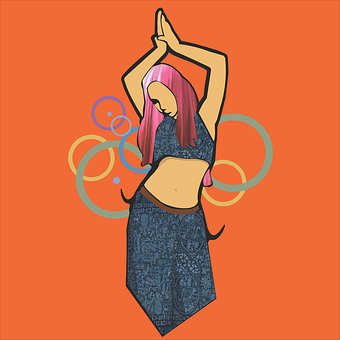 Belly Dancer, Hoops, Woman, Belly, Movement, Female