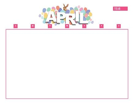 Calendar, April, Year, Month, Calendar Template