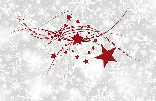 Christmas, Star, Snowflake, Banner, Header, Background