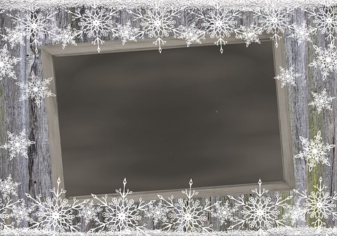 Frame, Board, Snowflakes, New Year'S Day