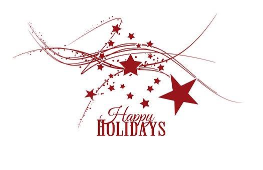 Happy Holidays, Christmas, Serious, Minimalist, Star