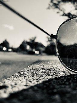 Sunglasses, Style, Black White, Art, Macro, Attractive