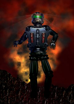 Robot, Machine, Android, Explosion, Cyborg, Sci Fi