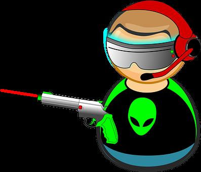 Alien, Comic Characters, Computer, Display, Gaming, Gun