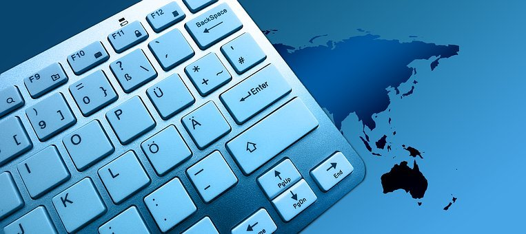 Keyboard, Computer, Continents, Country, Globe, World