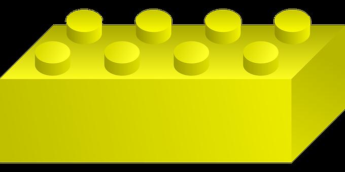 Yellow Brick, Toys, Kids, Construction, Childhood