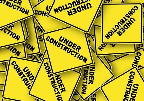 Road Sign, Construction Work, In The Construction