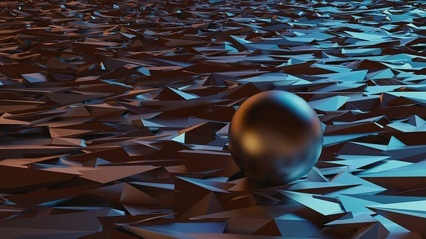 Wallpaper, Design, 3D, Sphere, Metal