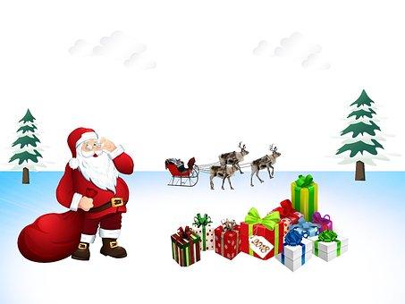 Christmas, Father Christmas, Gifts, Merry Christmas