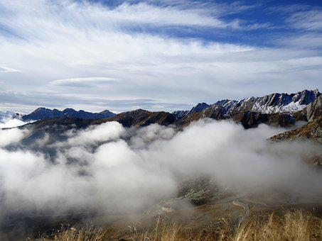 Italy, Alps, Clouds, Mountain, Landscape