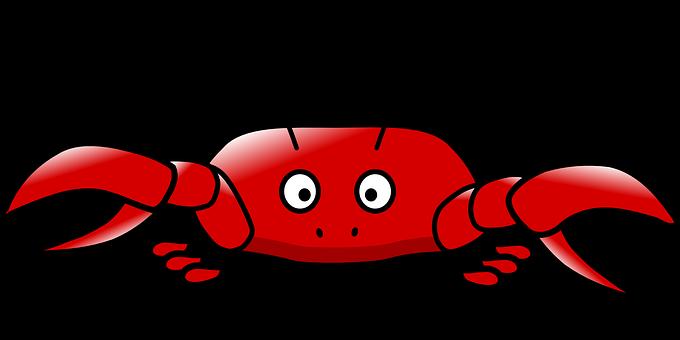 Crab, Fun, Red, Surprised, Animal