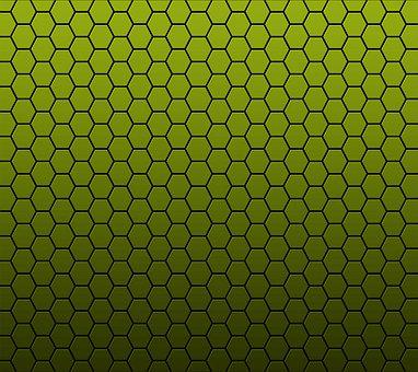 Yello Honeycomb, Background, Vector