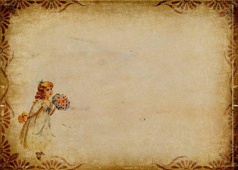 Flower Child, Girl, Flowers, Child, Frame