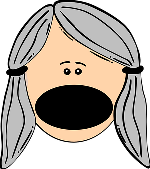 Big Mouth, Yelling, Loud, Girl, Face, Person, Woman