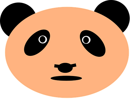 Panda, Bear, Face, Head, Animal, Mammal, Pink