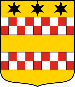 Dinsichoven, Heraldry, Coats, Arms, Attributs