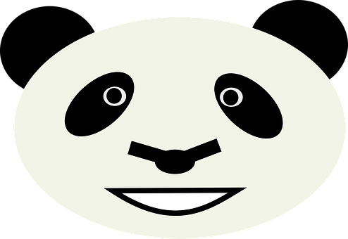 Panda, Bear, Face, Head, Animal, Mammal, Happy