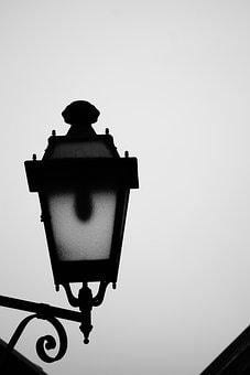 Lantern, Black And White, Architecture, City, Lighting