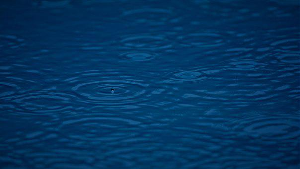 Drop Of Water, Rain, Water, Pool, Swimming Pool, Blue