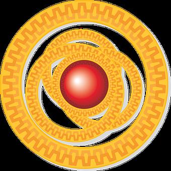 Red, Cartoon, Orange, Circles, Ornament, Maxim, Zipper