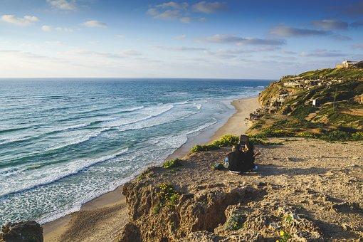 Sea, Cliff, Beach, Ocean, Water, Coast, Landscape, Rock