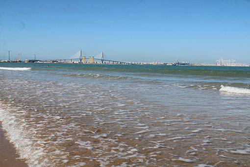 The Port Of Santa Maria, Beach, Levante Beach, Bridge