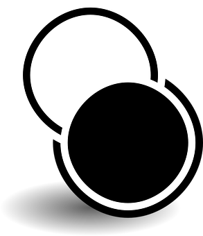 Black, White, Round, Tango, Circles, Maxim, Circle