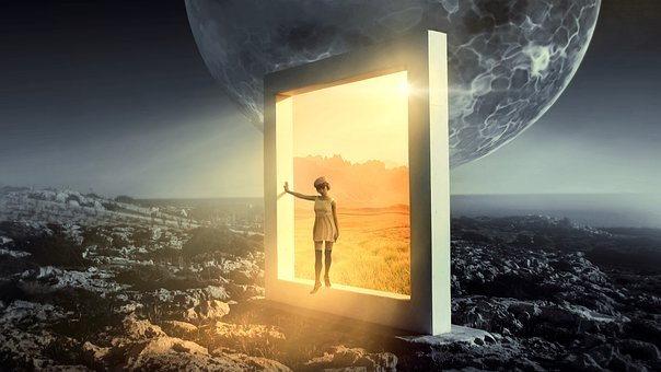 Fantasy, Portal, Goal, Light, Girl, Dream, Surreal