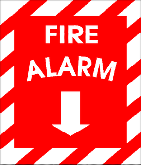 Alarm, Alert, Sign, Fire, Red, Icon, Emergency, Arrow