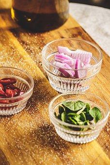 Herbs, Onion, Kitchen, Garlic, Food, Herb, Fresh, Table