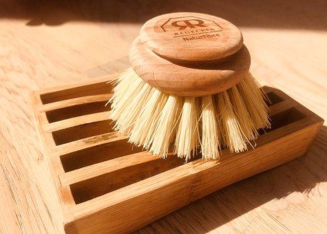 Brush, Wood, Cookware, Washing