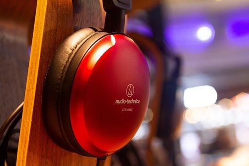 Headphones, Display, Modern, Creative, Technology