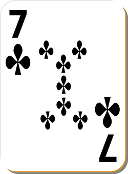 Playing Card, Seven, Clubs, Play, Luck, Casino