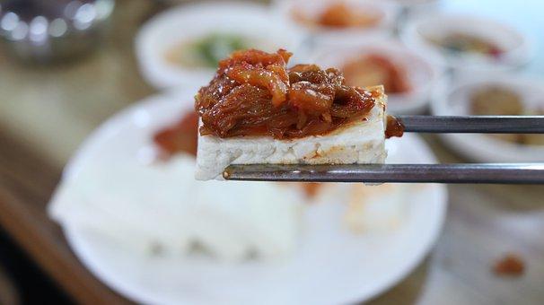 Tofu, Tofu Kimchi, Korean Food, Kimchi, Side Dish