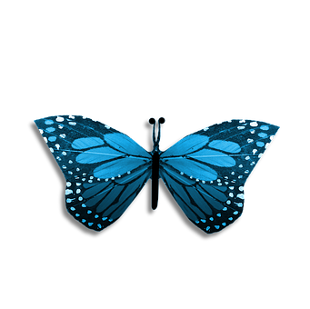 Butterfly, Blue, Drawing, Abstract, Craft, Scrapbook