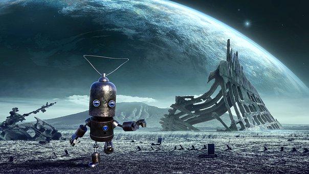Fantasy, Robot, Planet, End Time, Futuristic