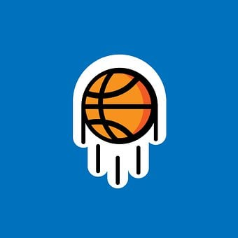 Basket Ball, Ball, Round, Sticker, Icon, Symbol