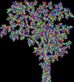 Tree, Plant, Vegetation, Nature, Vintage, Colorful