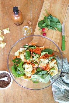 Salad, Pasta, Food, Healthy, Delicious, Nutrition, Eat
