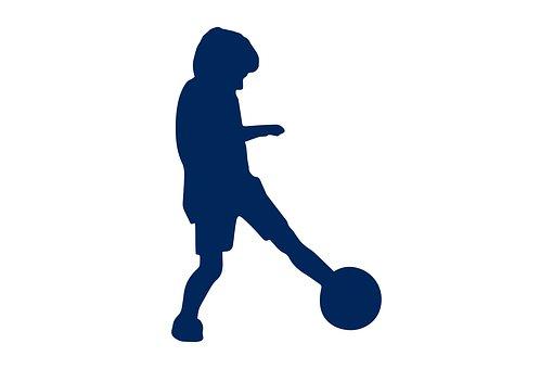 Kids, Playing, Silhouette, Football, Childhood, Kid