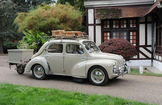 Renault, 4cv, Vehicle, Automobile, Retro, Nostalgia
