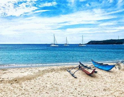 Sri Lankan Beach Side, Boats, Sea