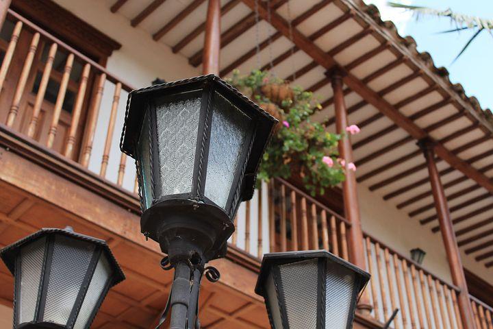 Lantern, Balcony, Facade, Residential, Old Building