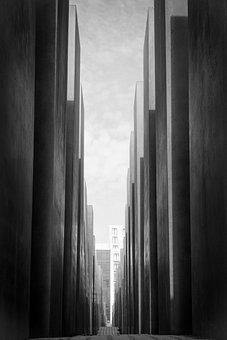 Berlin, Memorial, Holocaust, Capital, Grey