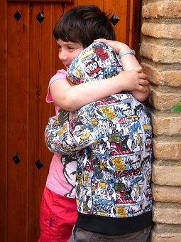 Brothers, Hug, Fraternal Love, Children