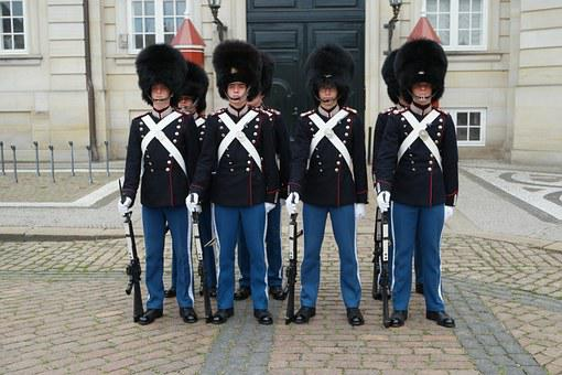Amalienborg, Royal Castle, Royal Guard, Copenhagen