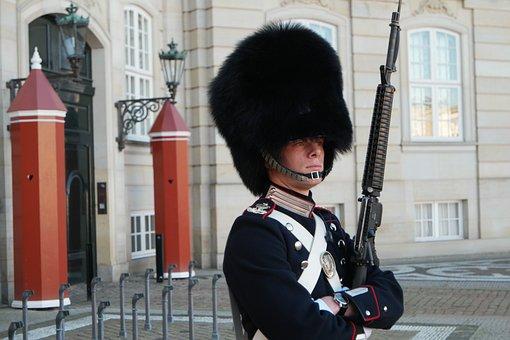 Amalienborg, Copenhagen, Denmark, Royal Guard