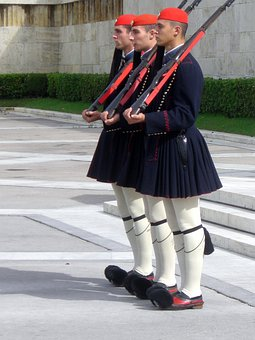 Euzonen, Athens, Parliament, Changing Of The Guard